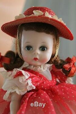 MADAME ALEXANDER 8 Wendy in Favorite Afternoon Outfit withred hat/1959/GREAT
