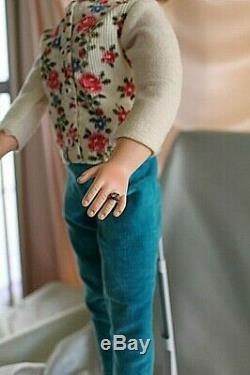MADAME ALEXANDER CISSY in torquoise velvet pant set 1956/TLC doll/vtg