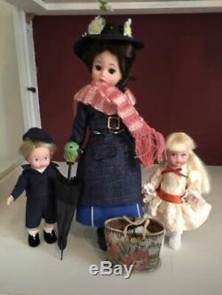 MADAME ALEXANDER MARY POPPINS DOLL Set With Jane And Michael Banks #38380