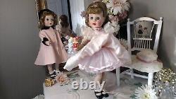 MADELAINE Madame Alexander 18 BJD 1952 ORIG TAG PINK PETTI+! POLKA DOT ORGANDY