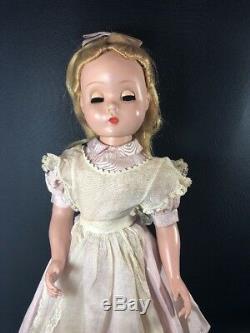 MAGGIE FACE ALICE MADAME ALEXANDER 1950s Alice In Wonderland 20 Pink Dress-1