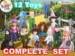 MIP SET 12 McDonald's 2008 MADAME ALEXANDER Doll WIZARD OF OZ Toy Dolls COMPLETE