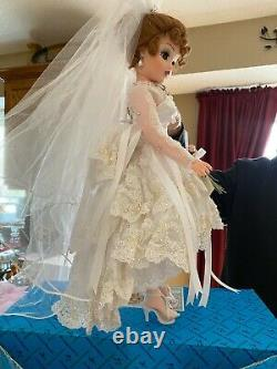 Madam Alexander Cissy Bride Pearl Embroidered Lace Bridal Gown 21 Limited #0052