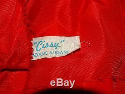 Madame Alexander 1957 Redhead 20 CISSY #2110 RED DAY DRESS Doll