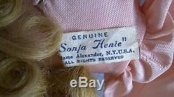 Madame Alexander 21 Composition Sonja Henie Doll Tagged Dress, Gold Skates 1940