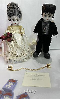 Madame Alexander 8 Halloween Mr. & Mrs. Frankenstein dolls WithOrg Box RetiredNEW