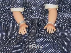 Madame Alexander Beautiful Cissy 20 Tall Doll 1958 Navy Polka Dots