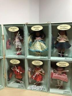 Madame Alexander Calendar Girls Set RARE AFRICAN AMERICAN 5 Doll Set Le 50