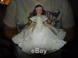 Madame Alexander Cissette Doll In White Taffeta Dancing Dress With Cape