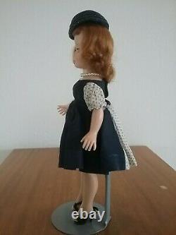 Madame Alexander Cissette Doll Tosca Triple Stitch Wig, Blue Taffeta Dress