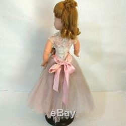 Madame Alexander Cissy Blonde Tagged Pink Tulle Gown Lace Bodice Vintage Doll