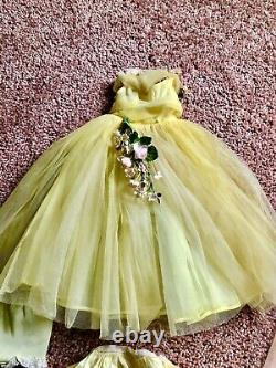 Madame Alexander Cissy Gown Yellow Tulle Rare