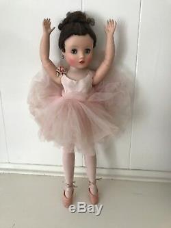 Madame Alexander ELISE Ballerina Sleepy Eyes Jointed Hard Plastic Vintage 15