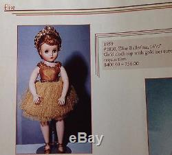 Madame Alexander Elise Gold Ballerina in Gold tutu sequin tiara 1959 Rare HTF