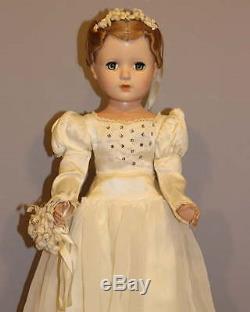 Madame Alexander Hard Plastic Bride Doll
