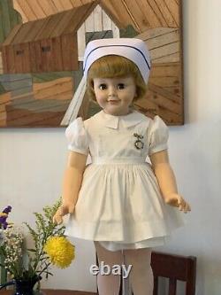 Madame Alexander Nurse Joanie 60, Playpal Size, Flirt Eyes, As Is, Repro Dress