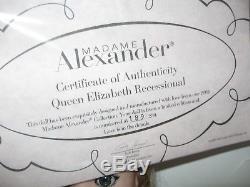 Madame Alexander Queen Elizabeth Recessional Doll Cissy 33525 Le Rare Mib 20in