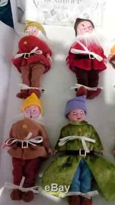 Madame Alexander Snow White and the Seven Dwarfs Dolls Set (2002, NIB) NO LID