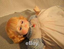 Madame Alexander Vintage 1965 Pussycat 24 Tagged Dress New Crier Blue Eyes Box