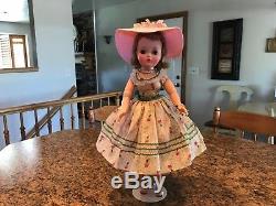 Madame Alexander Vintage 21 Cissy Doll 1956 In Rare Viole Clover Dress