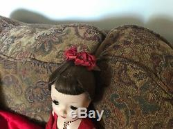 Madame Alexander Vintage Cissy Doll 1950s Rare Red Brocade Outfit