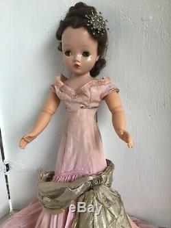Madame Alexander Vintage Cissy Doll From 1950s In Rare Ballgown