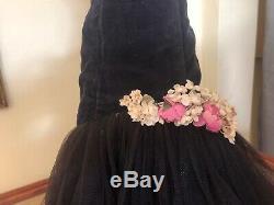 Madame Alexander Vintage Cissy Dress 1956 Black Velvet Mermaid Torso Gown #2043