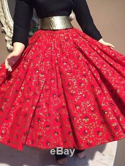 Madame Alexander Vintage Cissy In Red & Gold Skirt Outfit
