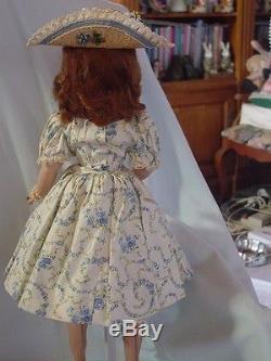 Madame Alexander Vintage, Hard Plastic Auburn Cissy Doll W Rare Matching Hat Vec