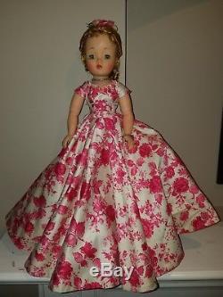 Madame Alexander Vintage, Hard Plastic Cissy Doll In Pink Camellia Ballgown
