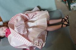 Madame Alexander Vintage Hard Plastic Cissy Doll With Orig Coat And Rare Girdle