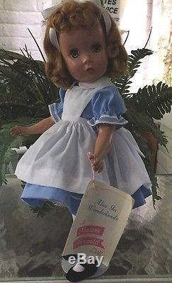 Madame Alexander Vintage Hard Plastic Maggie Faced Alice In Wonderland Doll