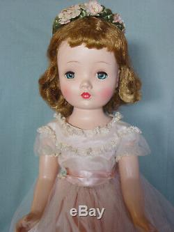 Madame Alexander Vintage Hard Plastic Mint Cissy-faced Flower Girl Doll