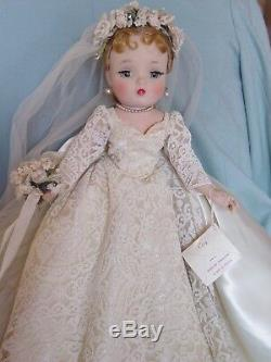 Madame Alexander Vintage Hard Plastic Mint Lia Sargent Cissy Bride Doll W Hang T
