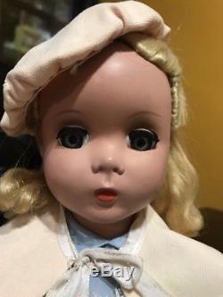 Madame Alexander Vintage Hard Plastic -alice In Wonderland Doll Incl Pink Cur 17