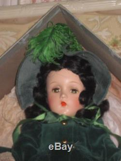 Magnificent Mint-in-box 14 Madame Alexander Composition Scarlett O'hara Doll