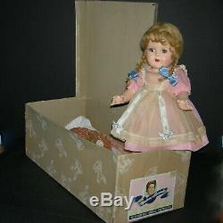 McGUFFEY ANA MADAME ALEXANDER 1937 -ORIGINAL with BOX- 16 PINK TAGGED DRESS