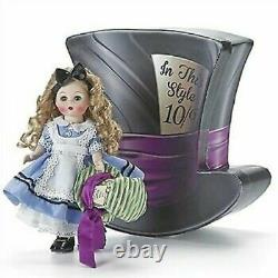New Madame Alexander #69815 8 Alice's Mad Adventures in Hat Shaped Box -Retired
