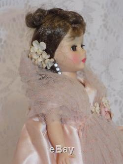 RARE 1959 Madame Alexander Cissette Doll in Tagged Pink Gown #732