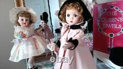 RARE MAGGIE WALKER Madame Alexander 18 1951 CISSY STYLE SWING COAT! TAG DRESS