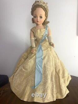 RARE Vintage Madame Alexander 19 Queen Elizabeth Coronation Cissy Doll 1954