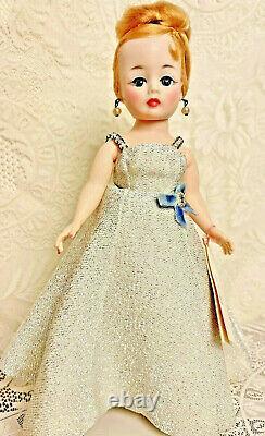 RARE Vintage Madame Alexander Cissette Margot Doll in Silver Gown 1960s
