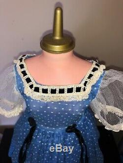 Rare Tagged 1955 Blue Dotted Swiss First year Madame Alexander 20 Cissy Dress
