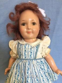 Rare Vintage 1937 Jane Withers 13 Composition Doll By Madame Alexander