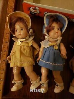 Rare Vintage Madame Alexander 8 Dionne Quintuplet Dolls 1930s Original