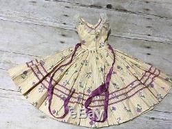 Rare Vintage Madame Alexander Cissy Doll Dress Floral Print w Rickrack 1956