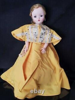 Rare Vtg 1955 Madame Alexander 20 Blonde Cissy In Gold Taffeta Formal #2098