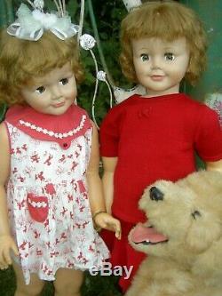 Rare, original 1959 vintage flirty Madame Alexander JOANIE doll 36 playpal size