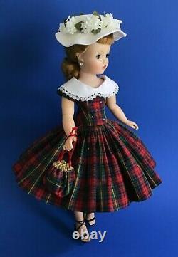 Replica Plaid Dress, Hat & Purse for Madam Alexander Cissy Revlon 20 (No Doll)