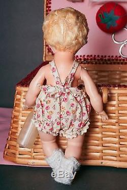 SALE Madame Alexander FAO SCHWARZ 1965-66 Only Alexanderkin Sewing Box with Doll